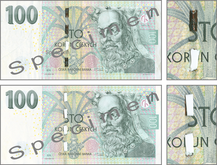 Výskyt padělaných a poškozených českých bankovek (tisková zpráva z 1. 7. 2019)