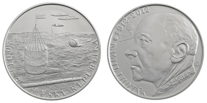 Commemorative silver coin to mark the 100th anniversary of the birth of Kamil Lhoták