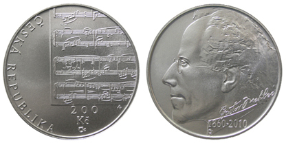 Commemorative silver coin to mark the 150th anniversary - Birth of composer Gustav Mahler